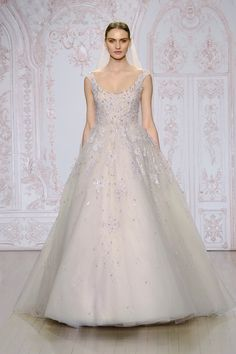 Lavender Daydream | We were completely enchanted by Monique Lhuillier's Fall 2015 Bridal collection that featured pretty, pastel-hued dresses| via Monique Lhuillier