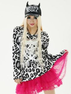 Neon Leopard BIG Long Sleeve T-Shirt / See more at http://www.cdjapan.co.jp/apparel/new_arrival.html?brand=SLV #harajuku