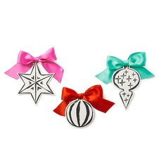 top3 by design - Kate Spade - KS holiday paper ornament 6set
