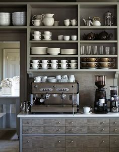 A coffee-lover's kitchen if ever there was one.