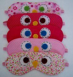 Máscara de dormir infantil confeccionada em tecido 100% algodão. R$ 12,00 PREÇO UNITÁRIO. R$ 12,00