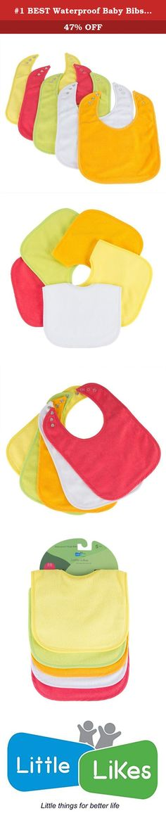 #1 BEST Waterproof Baby Bibs with Three Snaps, Unisex, 5 Pack, Solid Colors. Feeding babies and toddlers can be messy. Baby bibs are an excellent way to help keep feeding mess to minimum. It has variety of features and benefits, making feeding time quicker and cleaner for parents. As a parent ourselves, we have tried every type of bib available and found lot of things that needs improvement. • Cloth bibs are not waterproof, leaving smelly wet clothing and painful dribble rash on Baby's...
