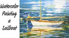 Wooden Sailboat Watercolor Painting Tutorial