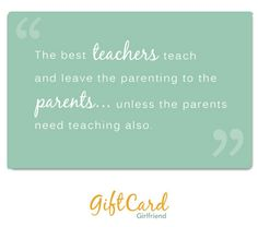 Quote about teachers on gift cards