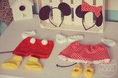 """Disfraces """"Mickey & Minnie"""" (0 hasta 12m) - Querida Galleta"""