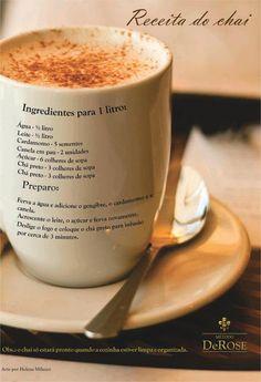 Uni-Yôga Alameda Campinas: Receita de chai indiano