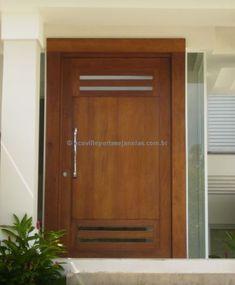 Puerta pivotante con detalles de vidrio Glass Design, Door Design, Entrance Doors, Garage Doors, Front Doors, Main Door, Drawing Room, Wooden Doors, Glass Door