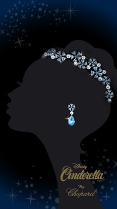 concept art for the diamond, aquamarine, and pearl tiara by Chopard - inspired by Cinderella