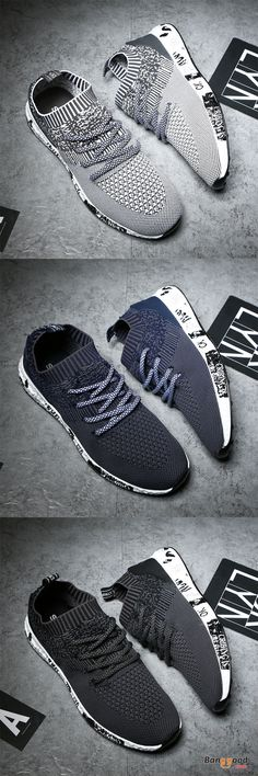 US$34.1+Free shipping. Athletic Shoes, Comfortable, Knitted, Lace Up. Color: Black, Dark Grey, Dark Blue. Shop now~