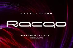 Racqo is a cool and techno looking display font. This font is ideal for writing web designs, business cards, or... Sans Serif Fonts, Script Fonts, All Fonts, Web Design, Graphic Design, Modern Fonts, Free Fonts Download, Premium Fonts, Techno