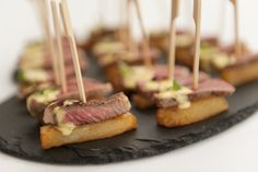 Steak & Chips on a Skewer with Béarnaise Sauce