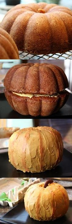 Pumpkin shaped cake - I have done this, it works great, but it makes a TON of cake. Something to keep in mind. You can also use fruit roll ups to make a jack-o-lantern face.