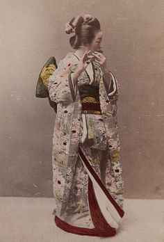 Geisha Playing A Flute by Museum of Photographic Arts Collections on Flickr…