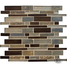 This beautiful mosaic is comprised of California Gold slate and multicolored glass pieces. From the kitchen backsplash to the shower accent, Urbano Blend completes your design with the just right touch of rustic. #walltilewednesday #tile