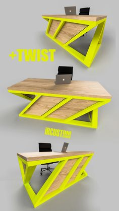 +twist We keep it simple + twist. We design & build modern industrial desks x tables with a different perspective. DM, Email or Call us to get a Custom Desk x Table for your Home or Office! Welded Furniture, Industrial Design Furniture, Iron Furniture, Steel Furniture, Modern Industrial, Table Furniture, Furniture Design, Custom Desk, Metal Desks