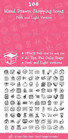 Hand Drawn Shopping Icons - Icons