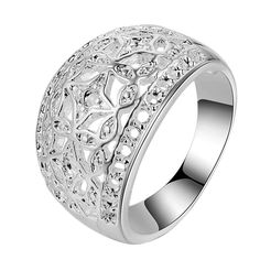 Classic Arc Pattern Wholesale Silver Plated Ring
