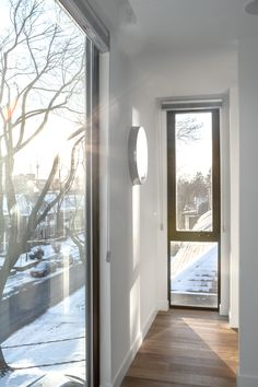 Articles about spacious toronto triplex responds rising urban density. Dwell is a platform for anyone to write about design and architecture. Small Windows, Windows And Doors, Dormer Loft Conversion, Bedroom Windows, Three Floor, Master Bedroom Design, Bay Window, Toronto, Urban