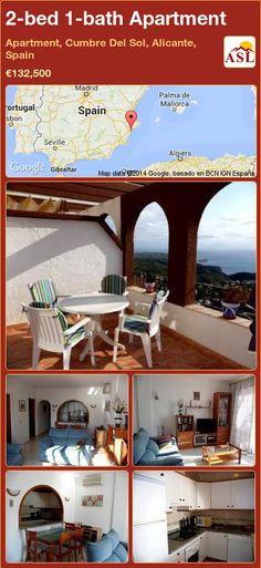 2-bed 1-bath Apartment in Apartment, Cumbre Del Sol, Alicante, Spain ►€132,500 #PropertyForSaleInSpain