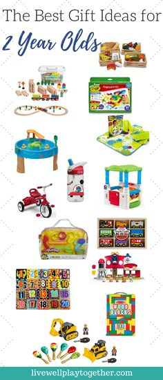 The Best Gift Ideas for 2 Year Old Boys and Girls - Great ideas for birthdays and holidays!