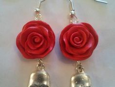 Black Rose Earrings   $40