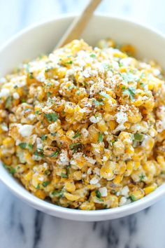 Mexican Corn Dip - Damn Delicious The traditional Mexican street corn is turned into the best dip ever. It's so good, you won't even need the chips. Just grab a spoon! Mexican Corn Dip, Mexican Street Corn Salad, Mexican Corn Side Dish, Mexican Style Corn, Mexican Dips, Mexican Corn In A Cup Recipe, Mexican Corn Casserole, Mexican Dinners, Mexican Street Food