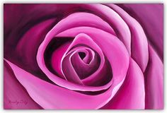 This is a fine art Giclee reproduction, gallery wrapped on canvas of my original oil painting of a pink rose.  Dimensions: 33 x 21.5  Ready to hang.  To view more original and fine art Giclee prints of my watercolor and oil paintings, visit my shop: www.etsy.com/shop/ArtByKristyDaly  I have always loved capturing the simple yet complex beauty of the world around us. Some of my earliest memories involve painting. I love to paint watercolors and oils of breathtaking beaches and flower...