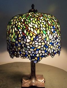 Stained Glass Lamp Arts Crafts Nouveau