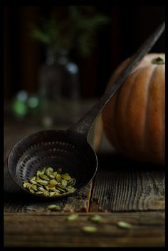 Undoubtedly one of my very favourite elements of autumn and Halloween, freshly roasted pumpkin seeds to nibble on! #pumpkins #food #cooking #seeds #Halloween #autumn #fall