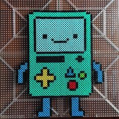BMO Adventure Time perler beads by honey.beads