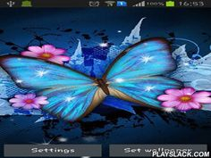 Shiny Butterfly  Android App - playslack.com , Shiny butterfly - pretty enlivened butterflies for your smartphone or tablet PC. Live wallpapers have several themes, uncomplicated settings and are power saving.