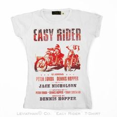 easy rider women ••• 14.99€ ✠ #LeviathanCo #tshirt #design #psychobilly #creative #create #clothes #vintage #diseño #lifestyle #rockNroll #pinup #rockabilly #hotrod #tattoos #motocicletas #bikers #camiseta #rider