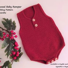 PDF Knitting Pattern Cedarwood Baby Cardigan and Romper Set | Etsy Baby Knitting Patterns, Christmas Knitting Patterns, I Cord, Dk Weight Yarn, Seed Stitch, How To Start Knitting, Knit In The Round, Baby Body, Baby Cardigan