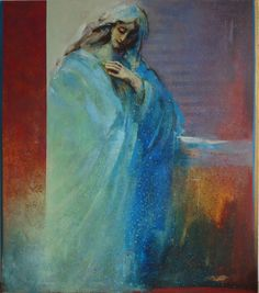 "Saatchi Online Artist: Danka Jaworska; Acrylic Painting ""la Donna"""