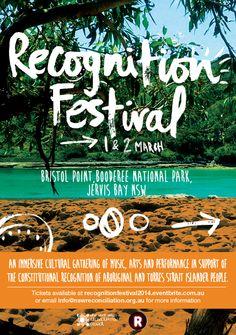 Recognition Festival > 1st & 2nd March 2014 @ Jervis Bay > http://regionalartsnsw.com.au/festivals/recognition-festival/