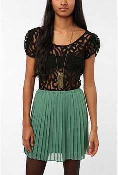pins and needles swirl pattern lace top from urban...cute & onsale!