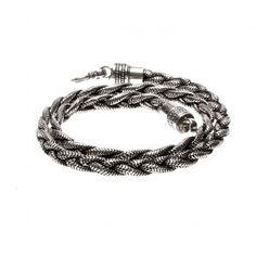 Man Snake Silver Necklace - Collana Snake Uomo Argento