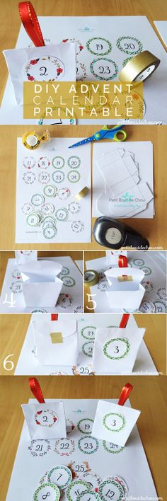 Make this quick and easy advent calendar by following this step by step tutorial with free printable. Your calendar can also be part of your Christmas tree ornaments.