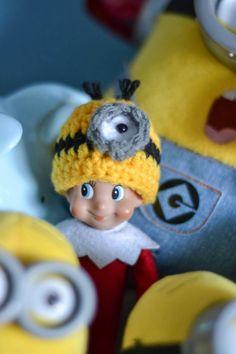 Mini crochet minion hat