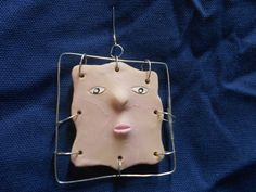 Lady Cassandra Dr Who  polymer clay ornament by StuffCo on Etsy, $8.00