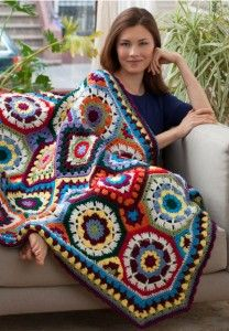 Make It Crochet | Your Daily Dose of Crochet Beauty | Free Crochet Pattern: In Love With Color Throw