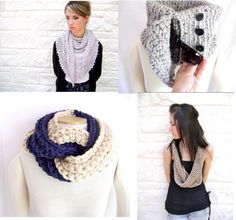 A personal favorite from my Etsy shop https://www.etsy.com/listing/161003721/my-favorite-4-crochet-scarfcowl-patterns