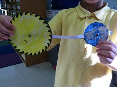 This is a cool way to show how the Earth revolves around the sun and how the moon revolves around the Earth.