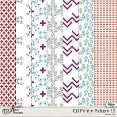 Commercial Use Print n Pattern 15 by NSD :: New Releases - November 1 :: Plain Digital Wrapper, Ltd.
