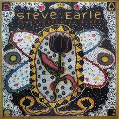 Steve Earle: Transcendental Blues album cover by Tony Fitzpatrick, 2000 http://www.steveearle.net/discography/transcendentalblues.php