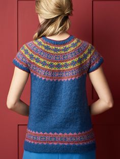 Knitting Patterns Sweter Ravelry: Lerryn pattern by Mary Henderson Vintage Crochet Patterns, Sweater Knitting Patterns, Vintage Knitting, Knitting Designs, Knit Patterns, Knitting Tutorials, Stitch Patterns, Summer Knitting, Fair Isle Knitting