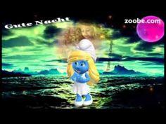 Gute NachtDer Mond schickt dir sein warmes LichtSüße Träume, Schlumpf, Zoobe - YouTube