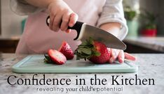 Confidence in the Kitchen, an online course and community learn how to teach your children from ages to work in the kitchen! Montessori Toddler, Montessori Activities, Family Child Care, Montessori Practical Life, Preschool Special Education, Play Based Learning, Parent Resources, School Psychology, Toddler Meals