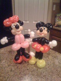 Mickey and Minnie Balloon Twist