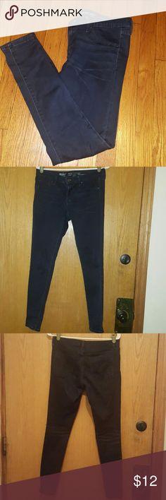 Midrise dark blue Jean leggings Comfy dark blue stretch Jean leggings Mossimo Supply Co Pants Leggings